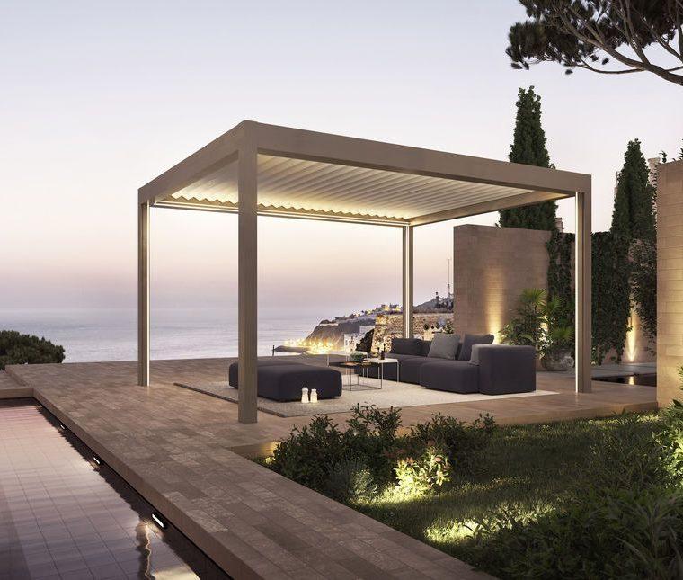 Terrassendach mit Beleuchtung