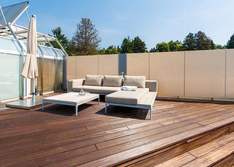 Hochwertige Gartenmöbel als Loungeset